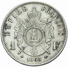 Photo numismatique  MONNAIES MODERNES FRANÇAISES NAPOLEON III, empereur (2 décembre 1852-1er septembre 1870)  1 franc 1868.