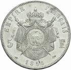 Photo numismatique  MONNAIES MODERNES FRANÇAISES NAPOLEON III, empereur (2 décembre 1852-1er septembre 1870)  5 francs 1855.