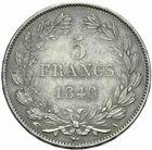 Photo numismatique  MONNAIES MODERNES FRANÇAISES LOUIS-PHILIPPE Ier (9 août 1830-24 février 1848)  5 francs 1848.