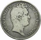 Photo numismatique  MONNAIES MODERNES FRANÇAISES LOUIS-PHILIPPE Ier (9 août 1830-24 février 1848)  5 francs 1830 sans le I.