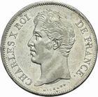 Photo numismatique  MONNAIES MODERNES FRANÇAISES CHARLES X (16 septembre 1824-2 août 1830)  5 francs 1827.