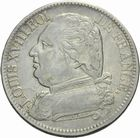 Photo numismatique  MONNAIES MODERNES FRANÇAISES LOUIS XVIII, 1ère restauration (3 mai 1814-20 mars 1815)  5 francs 1815.