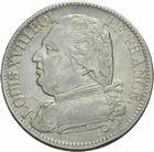 Photo numismatique  MONNAIES MODERNES FRANÇAISES LOUIS XVIII, 1ère restauration (3 mai 1814-20 mars 1815)  5 francs 1815.
