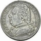 Photo numismatique  MONNAIES MODERNES FRANÇAISES LOUIS XVIII, 1ère restauration (3 mai 1814-20 mars 1815)  5 francs 1814.