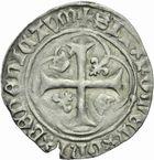 Photo numismatique  MONNAIES ROYALES FRANCAISES CHARLES VII (30 octobre 1422-22 juillet 1461)  Blancs aux couronnelles de Tours, 4ème émission.