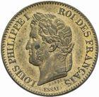 Photo numismatique  MONNAIES MODERNES FRANÇAISES LOUIS-PHILIPPE Ier (9 août 1830-24 février 1848)  Essai de 2 centimes 1847.
