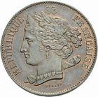 Photo numismatique  MONNAIES MODERNES FRANÇAISES 2e REPUBLIQUE (24 février 1848-2 décembre 1852)  Essai de 10 centimes 1848.