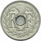 Photo numismatique  MONNAIES MODERNES FRANÇAISES 3ème REPUBLIQUE (4 septembre 1870-10 juillet 1940)  Essai de 5 centimes 1920 en piéfort.