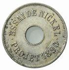 Photo numismatique  MONNAIES MODERNES FRANÇAISES 3ème REPUBLIQUE (4 septembre 1870-10 juillet 1940)  Essai de nickel 2 de  T. Michelin, 1890.