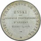Photo numismatique  MONNAIES MODERNES FRANÇAISES 3ème REPUBLIQUE (4 septembre 1870-10 juillet 1940)  Essai de fabrication (module de 50 francs).