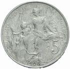 Photo numismatique  MONNAIES MODERNES FRANÇAISES 3ème REPUBLIQUE (4 septembre 1870-10 juillet 1940)  Essai de 5 centimes de 1908 en aluminium.