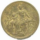 Photo numismatique  MONNAIES MODERNES FRANÇAISES 3ème REPUBLIQUE (4 septembre 1870-10 juillet 1940)  Essai en piéfort de 5 centimes de 1898 en bronze.