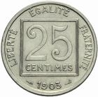 Photo numismatique  MONNAIES MODERNES FRANÇAISES 3ème REPUBLIQUE (4 septembre 1870-10 juillet 1940)  25 centimes 1903.