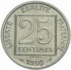 Photo numismatique  MONNAIES MODERNES FRANÇAISES 3ème REPUBLIQUE (4 septembre 1870-10 juillet 1940)  Essai de 25 centimes 1903 en nickel.