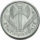 Photo numismatique  MONNAIES MODERNES FRANÇAISES ÉTAT Français (10 juillet 1940-1944)  Essai en piéfort de 50 centimes 1942 en aluminium.