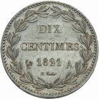 Photo numismatique  MONNAIES MODERNES FRANÇAISES LOUIS XVIII, 2e restauration (8 juillet 1815-16 septembre 1824)  Essai de 10 centimes 1821.