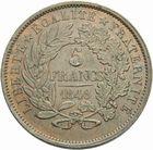 Photo numismatique  MONNAIES MODERNES FRANÇAISES 2ème RÉPUBLIQUE (24 février 1848-2 décembre 1852)  5 francs en bronze du concours monétaire de 1848.