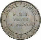 Photo numismatique  MONNAIES MODERNES FRANÇAISES NAPOLEON III, empereur (2 décembre 1852-1er septembre 1870)  Visite à la Monnaie le 3 mai 1854, module de 10 centimes.
