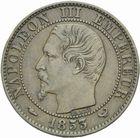 Photo numismatique  MONNAIES MODERNES FRANÇAISES NAPOLEON III, empereur (2 décembre 1852-1er septembre 1870)  Visite à la Bourse de Lille, module de 2 centimes.
