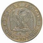 Photo numismatique  MONNAIES MODERNES FRANÇAISES NAPOLEON III, empereur (2 décembre 1852-1er septembre 1870)  5 centimes 1855 A.
