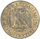 Photo numismatique  MONNAIES MODERNES FRANÇAISES NAPOLEON III, empereur (2 décembre 1852-1er septembre 1870)  5 centimes 1854 BB.