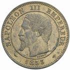 Photo numismatique  MONNAIES MODERNES FRANÇAISES NAPOLEON III, empereur (2 décembre 1852-1er septembre 1870)  2 centimes 1853 A.