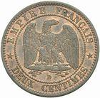 Photo numismatique  MONNAIES MODERNES FRANÇAISES NAPOLEON III, empereur (2 décembre 1852-1er septembre 1870)  2 centimes 1853 B.