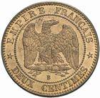 Photo numismatique  MONNAIES MODERNES FRANÇAISES NAPOLEON III, empereur (2 décembre 1852-1er septembre 1870)  2 centimes 1854 B.