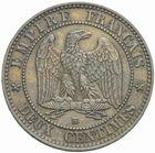 Photo numismatique  MONNAIES MODERNES FRANÇAISES NAPOLEON III, empereur (2 décembre 1852-1er septembre 1870)  2 centimes 1856 BB.