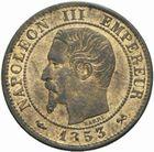 Photo numismatique  MONNAIES MODERNES FRANÇAISES NAPOLEON III, empereur (2 décembre 1852-1er septembre 1870)  1 centime 1853 B.