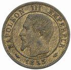 Photo numismatique  MONNAIES MODERNES FRANÇAISES NAPOLEON III, empereur (2 décembre 1852-1er septembre 1870)  1 centime 1853 A.