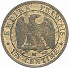 Photo numismatique  MONNAIES MODERNES FRANÇAISES NAPOLEON III, empereur (2 décembre 1852-1er septembre 1870)  1 centime 1853 MA.