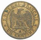 Photo numismatique  MONNAIES MODERNES FRANÇAISES NAPOLEON III, empereur (2 décembre 1852-1er septembre 1870)  1 centime 1856 A.