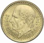 Photo numismatique  MONNAIES MONNAIES DU MONDE MEXIQUE République (depuis 1821) 2 et 1/2 pesos or 1945.