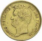 Photo numismatique  MONNAIES MODERNES FRANÇAISES LOUIS-PHILIPPE Ier (9 août 1830-24 février 1848)  20 francs 1831 or.