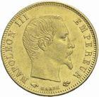 Photo numismatique  MONNAIES MODERNES FRANÇAISES NAPOLEON III, empereur (2 décembre 1852-1er septembre 1870)  5 francs 1858 or.