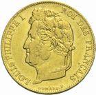Photo numismatique  MONNAIES MODERNES FRANÇAISES LOUIS-PHILIPPE Ier (9 août 1830-24 février 1848)  20 francs or 1844.