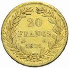 Photo numismatique  MONNAIES MODERNES FRANÇAISES LOUIS-PHILIPPE Ier (9 août 1830-24 février 1848)  20 francs or 1831.
