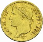 Photo numismatique  MONNAIES MODERNES FRANÇAISES NAPOLEON Ier, empereur (18 mai 1804- 6 avril 1814)  20 francs or 1813.
