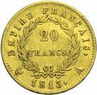 Photo numismatique  MONNAIES MODERNES FRANÇAISES NAPOLEON Ier, empereur (18 mai 1804- 6 avril 1814)  20 francs or 1813.