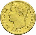 Photo numismatique  MONNAIES MODERNES FRANÇAISES NAPOLEON Ier, empereur (18 mai 1804- 6 avril 1814)  20 francs or 1812.