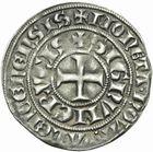 Photo numismatique  MONNAIES BARONNIALES Comté de HAINAUT GUILLAUME Ier (1304-1337) Baudekin de la 1ère émission.