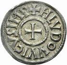 Photo numismatique  MONNAIES CAROLINGIENS LOUIS LE PIEUX, empereur (janvier 814-20 juin 840)  Denier de Melle.
