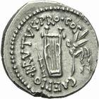 Photo numismatique  MONNAIES RÉPUBLIQUE ROMAINE BRUTUS (85-42)  Denier.