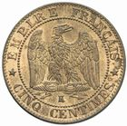 Photo numismatique  MONNAIES MODERNES FRANÇAISES NAPOLEON III, empereur (2 décembre 1852-1er septembre 1870)  Cinq centimes 1864.