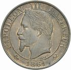 Photo numismatique  MONNAIES MODERNES FRANÇAISES NAPOLEON III, empereur (2 décembre 1852-1er septembre 1870)  Cinq centimes 1861.