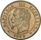 Photo numismatique  MONNAIES MODERNES FRANÇAISES NAPOLEON III, empereur (2 décembre 1852-1er septembre 1870)  Deux centimes 1862.