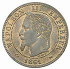 Photo numismatique  MONNAIES MODERNES FRANÇAISES NAPOLEON III, empereur (2 décembre 1852-1er septembre 1870)  Deux centimes 1861.