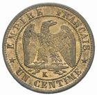 Photo numismatique  MONNAIES MODERNES FRANÇAISES NAPOLEON III, empereur (2 décembre 1852-1er septembre 1870)  Un centime 1862.