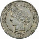 Photo numismatique  MONNAIES MODERNES FRANÇAISES GOUVERNEMENT de DEFENSE NATIONALE (4 septembre 1870-1871)  10 centimes 1870.